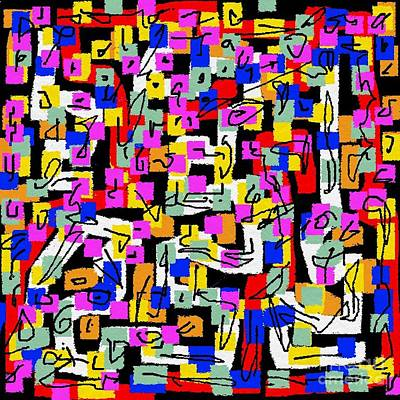 Eliso Digital Art - Abstract Laberinto 2 by Eliso Ignacio Silva