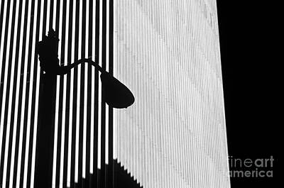 Photograph - Abstract Lamp Post Building by Jim Corwin