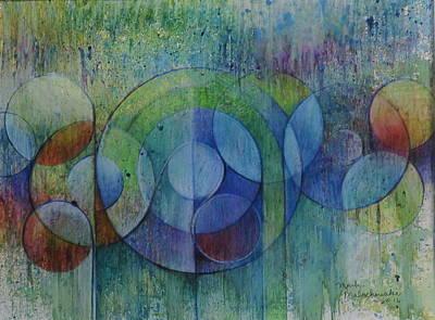 Spatter Mixed Media - Abstract Landscape #1  by Mark Malachowski