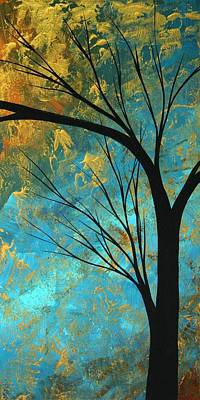 Metallic Abstract Painting - Abstract Landscape Art Passing Beauty 3 Of 5 by Megan Duncanson