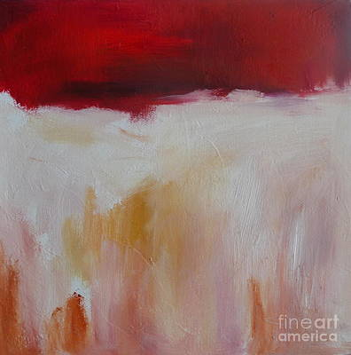 Abstract Landscape In Red Art Print by Xx X