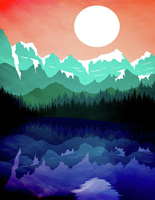 Abstract Landscape Lake Tahoe Art Print