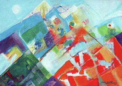 Painting - Abstract Landscape1 by Mary Armstrong