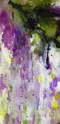 Painting - Abstract Lavender Cascades by Ginette Callaway