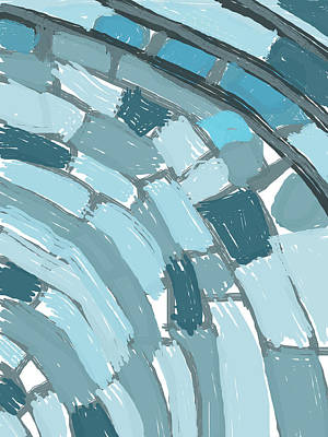 Digital Art - Abstract Layered Blues by Keshava Shukla
