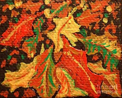 Painting - Abstract Leaves by Christina Verdgeline