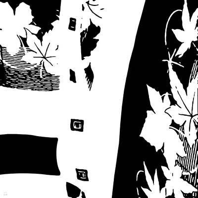 Flower Abstract Drawing - Abstract Leaves by Katrina Britt