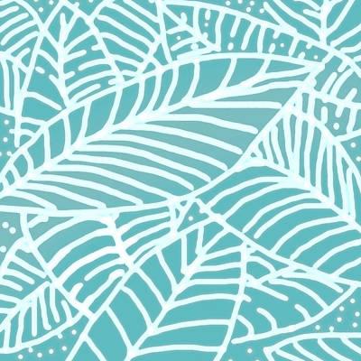 Digital Art - Abstract Leaves Teal Batik by Karen Dyson