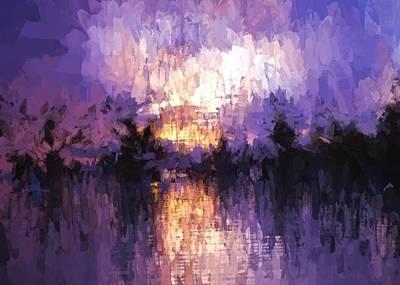Digital Art - Abstract - Tropical Twilight by Charmaine Zoe