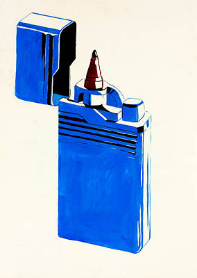 Single Object Drawing - Abstract Lighter  By Ivailo Nikolov by Boyan Dimitrov
