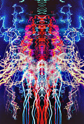 Abstract Lightpainting Oil Style Unique Poster Image Art Print