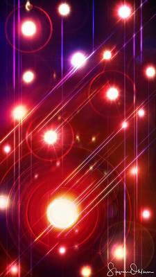Lighting Effect Digital Art - Abstract Lights - Signed Limited Edition by Steve Ohlsen