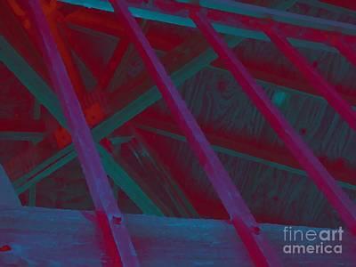 Abstract Line Art Print by John  Bichler