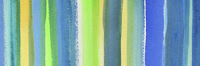 Abstract Royalty-Free and Rights-Managed Images - Abstract Lines In Blue Yellow Green II by Irina Sztukowski