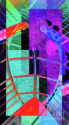 Digital Art - Abstract Lines Of Color #2 by Ian Gledhill