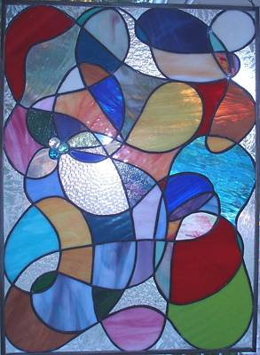 Glass Art - Abstract by Liz Lowder
