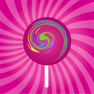 Drawing - Abstract Lollipop Art by Serena King