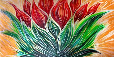 Abstract Lotus Art Print