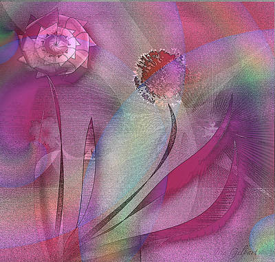 Digital Art - Abstract Love by Iris Gelbart