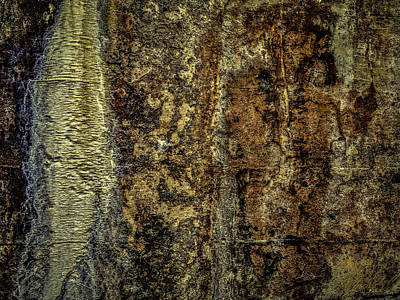 Photograph - Abstract Lumber Mill Foundation 1 by Bob Orsillo