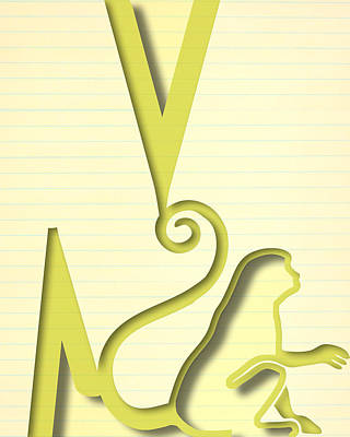 Letter M Digital Art - Abstract M by Vanessa Bates