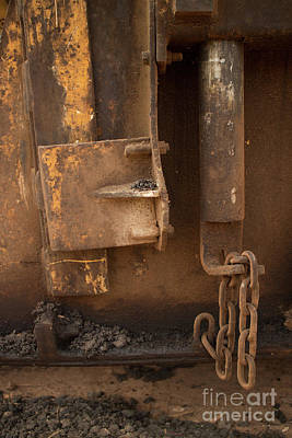 Photograph - Abstract Machine Metal With Chain by Jason Rosette