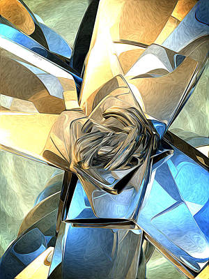 Geometric Digital Art - Abstract Macro Structure by Phil Perkins