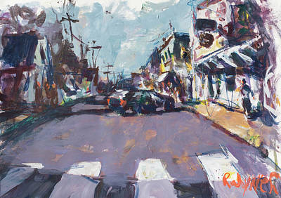 Painting - Abstract Maine Townscape by Robert Joyner