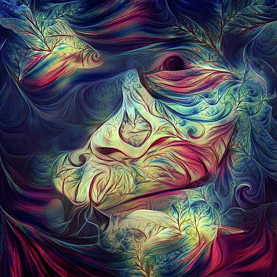 Digital Art - Abstract Man Face by Bruce Rolff