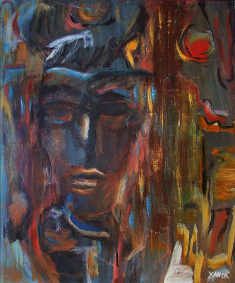 Painting - Abstract Man by Katt Yanda