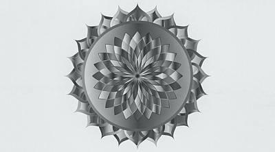 Drawing - Abstract Mandala Art by Wall Art Prints