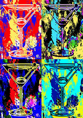 Abstract Martini's Art Print by Jon Neidert