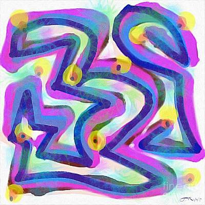 Digital Art - Abstract Maze by Julie Knapp