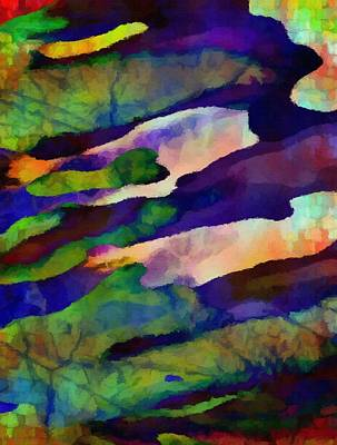 Merging Painting - Abstract Merging. by Delynn Addams