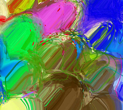 Digital Art - Abstract Mess Pointers by Yury Malkov