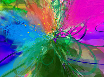 Digital Art - Abstract Mess Molibu by Yury Malkov