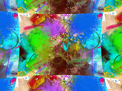 Digital Art - Abstract Mess Pillow by Yury Malkov