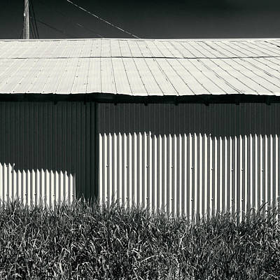 Photograph - Abstract Metal Shed And Grass by Peter V Quenter