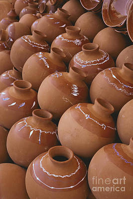 Photograph - abstract Mexican market photographs - Mexican pots I by Sharon Hudson
