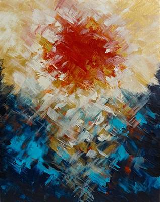 Painting - Abstract Blood Moon by Michelle Pier