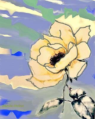 Abstract Mod Rose Art Print
