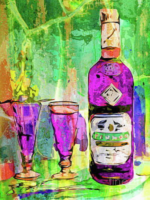 Mixed Media - Abstract Modern Absinthe Pop Art by Ginette Callaway