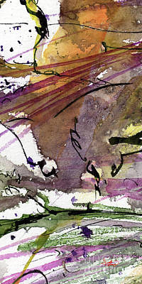 Painting - Abstract Modern Organic Watercolor And Ink 3 by Ginette Callaway