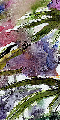 Painting - Abstract Modern Organic Watercolor And Ink 6 by Ginette Callaway