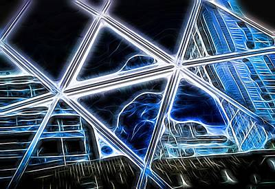 Photograph - Abstract Modern Window Building Reflection by John Williams