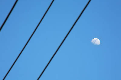 Photograph - Abstract Moon Wires by Marilyn Hunt