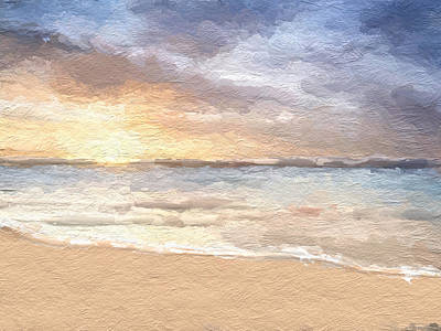 Mixed Media - Abstract Morning Tide by Anthony Fishburne
