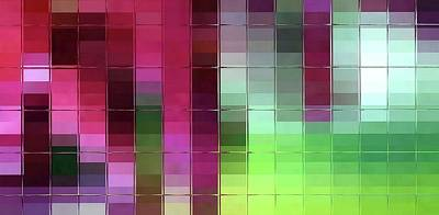 Digital Art - Abstract Mosaic - Colored Glass by Patricia Strand