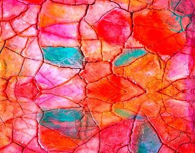 Painting - Abstract Mosaic On Canvas by Carolyn Repka