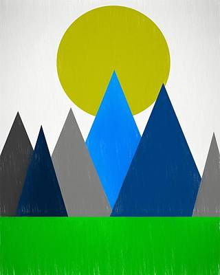 Teton Digital Art - Abstract Mountains Landscape by Dan Sproul
